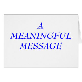 MEANINGFUL MESSAGE INCARCERATION 5 GREETING CARD