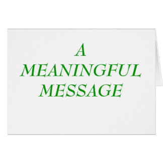 MEANINGFUL MESSAGE:  PEER PRESSURE/BULLYING 2 NOTE CARD