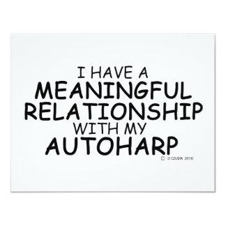Meaningful Relationship Autoharp 11 Cm X 14 Cm Invitation Card