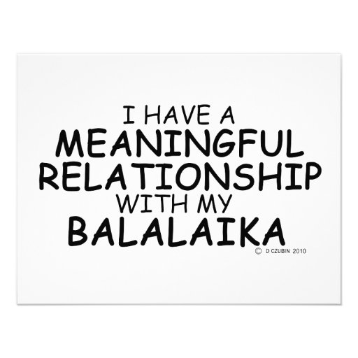 Meaningful Relationship Balalaika Custom Announcements