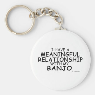 Meaningful Relationship Banjo Basic Round Button Key Ring