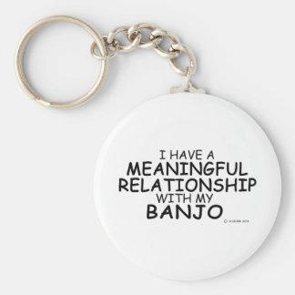 Meaningful Relationship Banjo Basic Round Button Key Ring