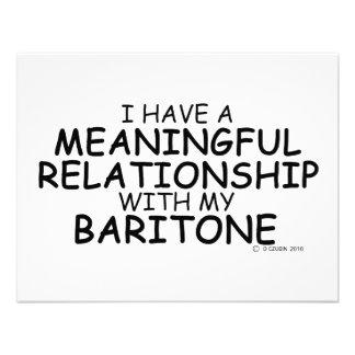 Meaningful Relationship Baritone Personalized Invitations