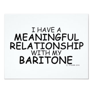 Meaningful Relationship Baritone Personalized Invitations