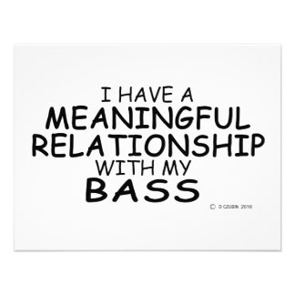 Meaningful Relationship Bass Personalized Announcement