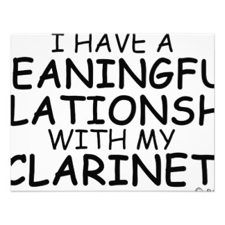 Meaningful Relationship Clarinet Personalized Announcement