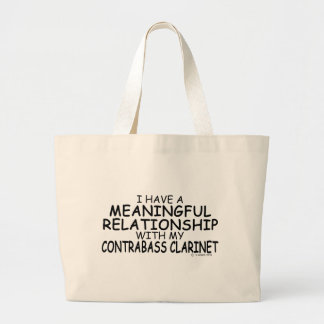 Meaningful Relationship Contrabass Clarinet Large Tote Bag