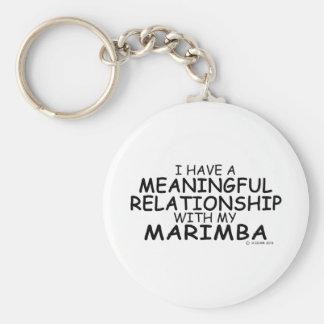 Meaningful Relationship Marimba Basic Round Button Key Ring