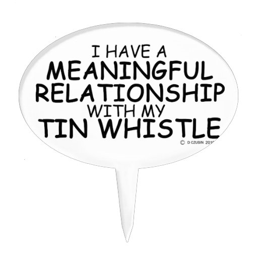 Meaningful Relationship Tin Whistle Cake Toppers
