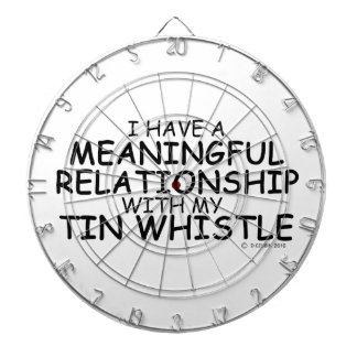 Meaningful Relationship Tin Whistle Dartboard With Darts