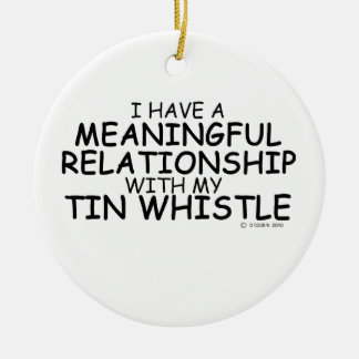 Meaningful Relationship Tin Whistle Christmas Tree Ornaments
