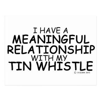 Meaningful Relationship Tin Whistle Postcard