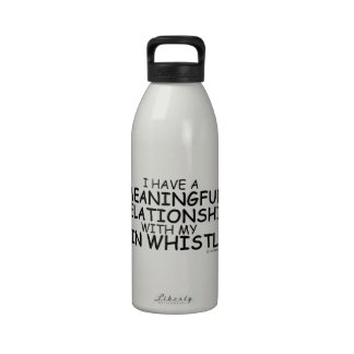 Meaningful Relationship Tin Whistle Water Bottles