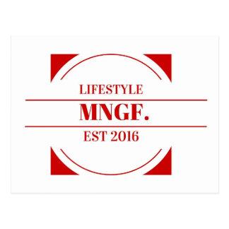 MeaningfulLiving Brand red brand logo Postcard