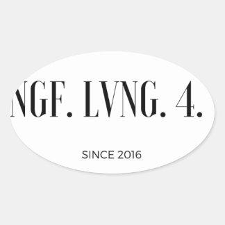 MeaningfulLiving simple logo Oval Sticker