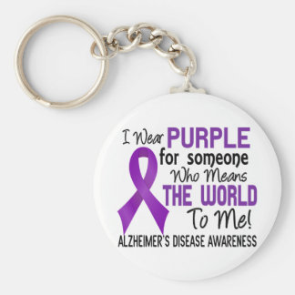 Means The World To Me 2 Alzheimer's Disease Basic Round Button Key Ring