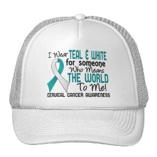 Means The World To Me 2 Cervical Cancer Trucker Hat