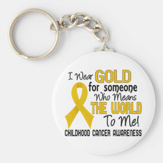 Means The World To Me 2 Childhood Cancer Basic Round Button Key Ring