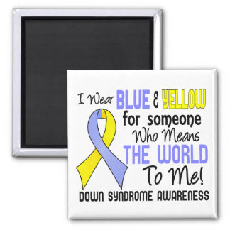 Means The World To Me 2 Down Syndrome Refrigerator Magnets
