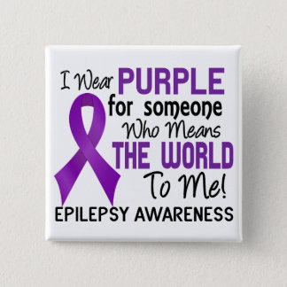 Means The World To Me 2 Epilepsy 15 Cm Square Badge