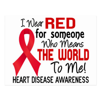 Means The World To Me 2 Heart Disease Postcard