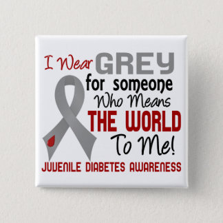 Means The World To Me 2 Juvenile Diabetes 15 Cm Square Badge