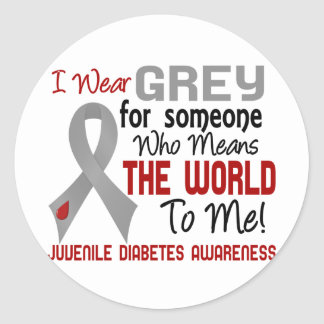 Means The World To Me 2 Juvenile Diabetes Classic Round Sticker