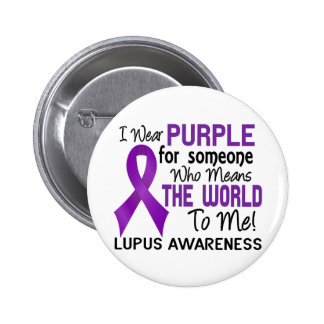 Means The World To Me 2 Lupus 6 Cm Round Badge