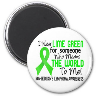 Means The World To Me 2 Non-Hodgkin's Lymphoma 6 Cm Round Magnet