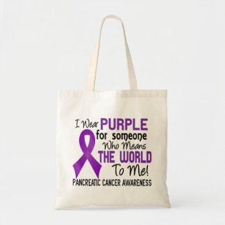 Means The World To Me 2 Pancreatic Cancer Tote Bag