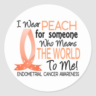 Means The World To Me Endometrial Cancer Round Sticker