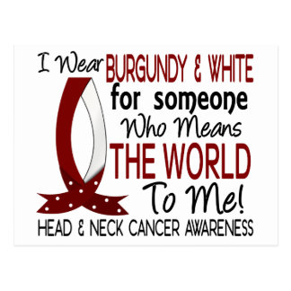 Means The World To Me Head Neck Cancer Postcard