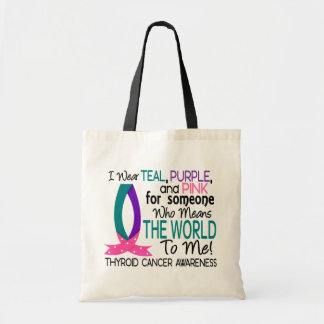 Means The World To Me Thyroid Cancer Bags