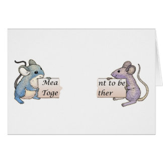 Meant to be Together, Valentine's Card with Mice