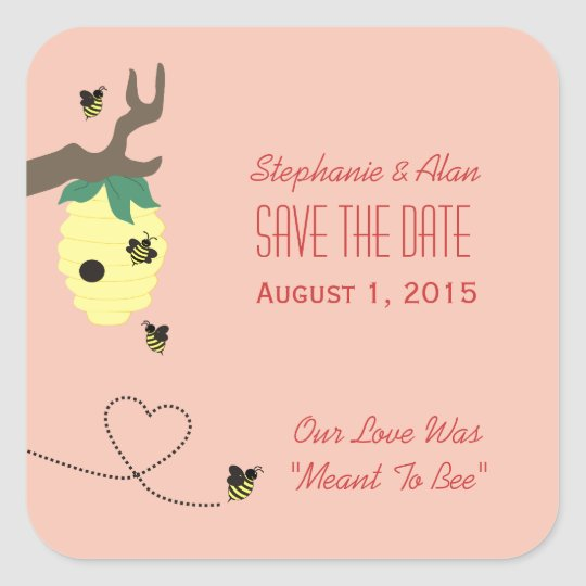 Meant To Bee Save The Date Stickers