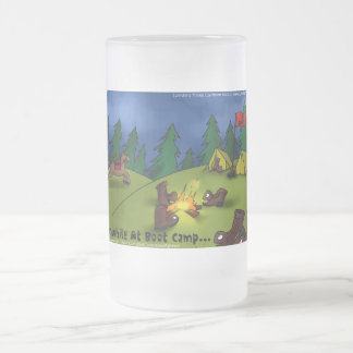 Meanwhile @ Boot Camp Funny Tees Cards Gifts Etc Frosted Glass Mug