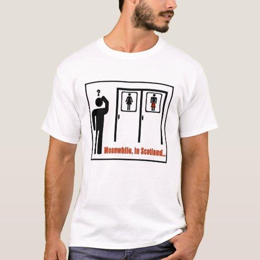 Meanwhile, in Scotland funny Scottish kilt joke T-shirt