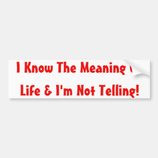 Meany Bumper Sticker