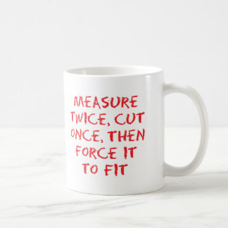 Measure and force coffee mug