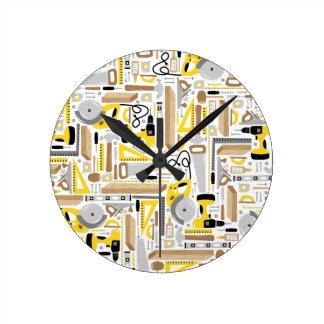 Measure Twice, Cut Once Wall Clocks