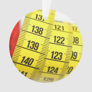 Measuring tape ornament