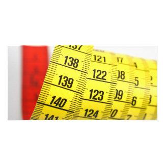 Measuring tape photo card template
