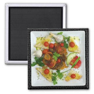Meat and Vegetables Dinner Refrigerator Magnet