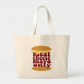 Meat Cheese and Mayo Jumbo Tote Bag