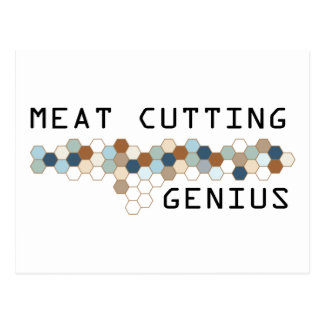 Meat Cutting Genius Postcard