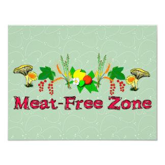 Meat-Free Zone 11 Cm X 14 Cm Invitation Card