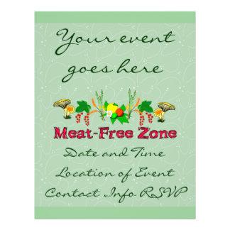 Meat-Free Zone 21.5 Cm X 28 Cm Flyer