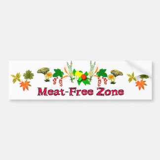 Meat-Free Zone Bumper Sticker