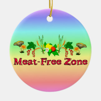 Meat-Free Zone Christmas Ornament