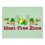 Meat-Free Zone Custom Invitation